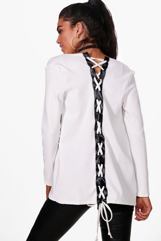 Julia Lace Up Back Blazer