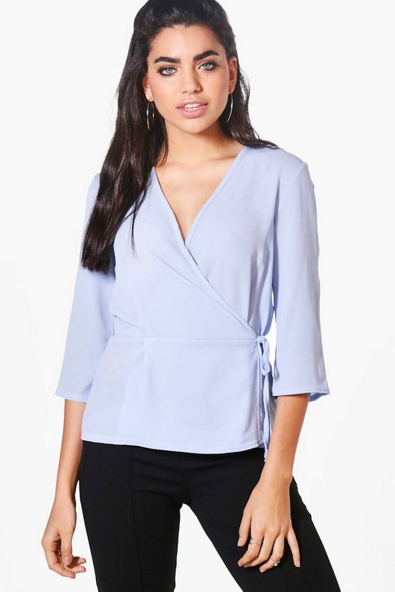 Rebecca Wrap Over Tie Top