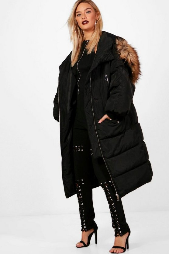 Boutique Longline Padded Parka