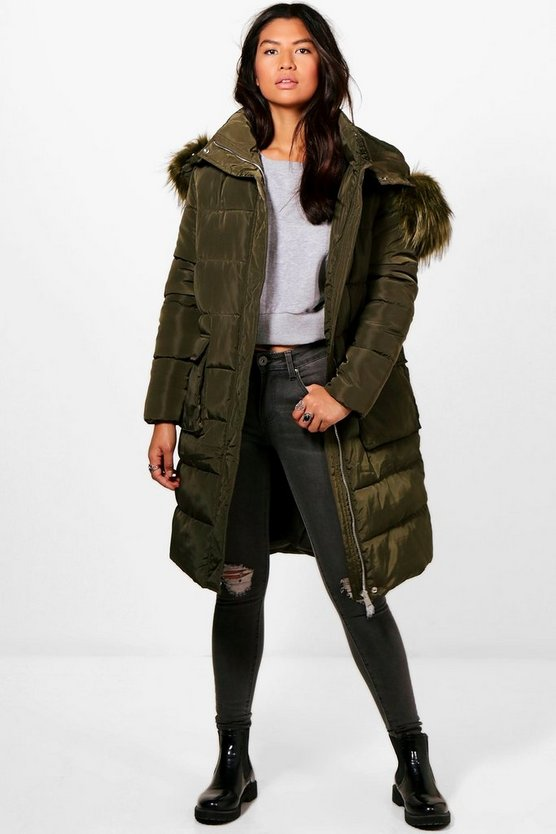 Hannah Boutique Longline Padded Coat