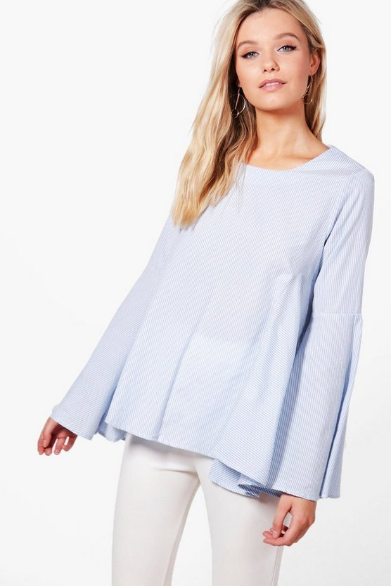Flare Sleeve Shirt Blouse