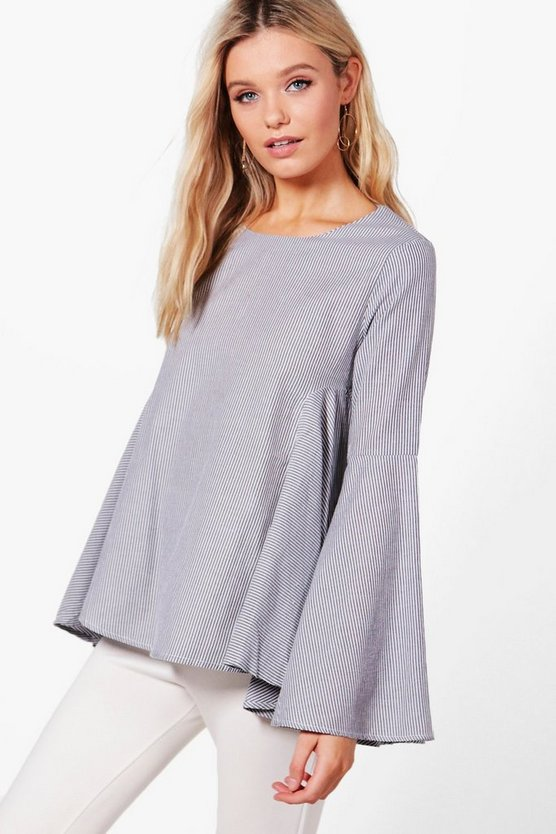 Olivia Flare Sleeve Shirt Blouse