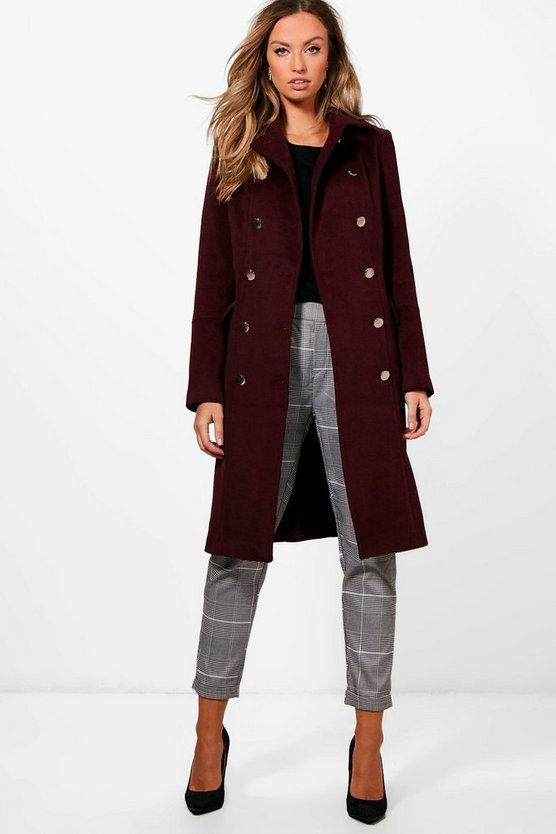 Ruby Double Breasted Wool Look Coat