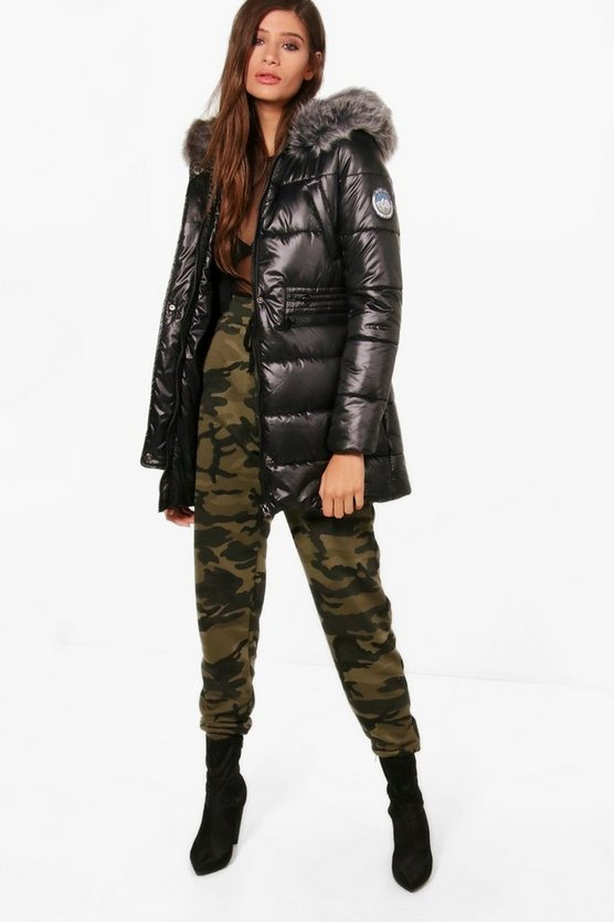 Molly Synch Waist High Shine Padded Coat