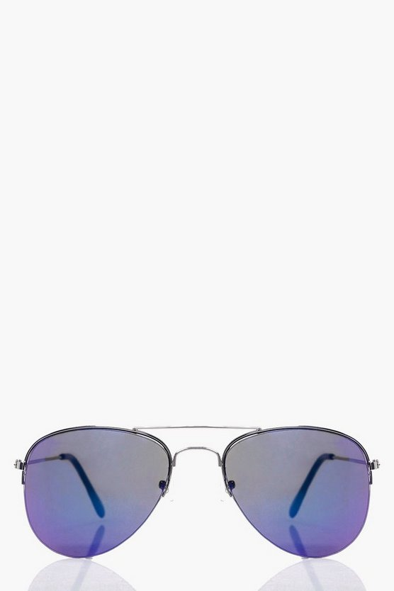 Hollie Turquoise Ombre Aviator Sunglasses