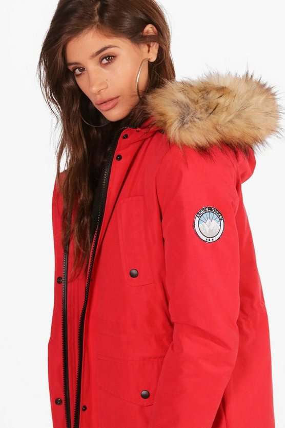 Julie Luxe Faux Fur Sporty Parka