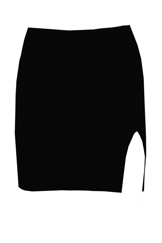 Boohoo-Minifalda-De-Neopreno-Con-Abertura-Hasta-El-Muslo-Lola-para-Mujer