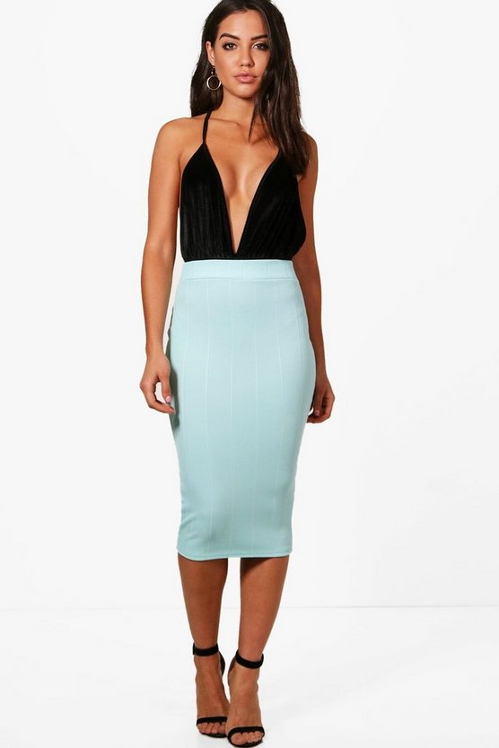 Willow Pastel Bandage Midi Skirt