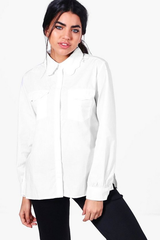 Scarlett Scallop Collar Shirt
