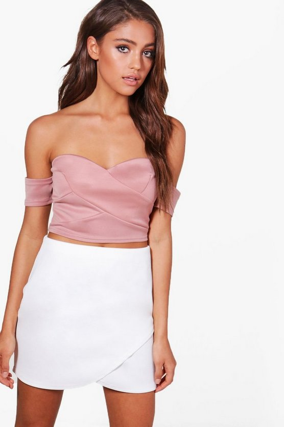 Tia Off The Shoulder Crop Top