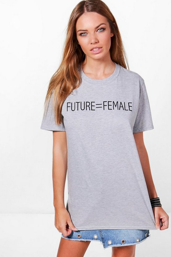 Olivia Future Female Slogan T-Shirt