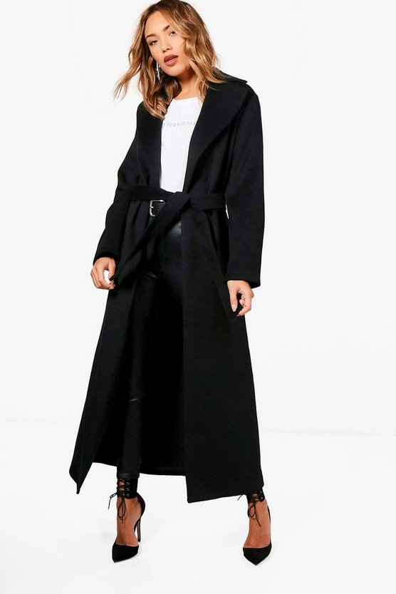 Lucy Belted Maxi Wool Look Coat