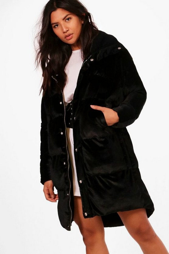 Ella Velvet Padded Coat