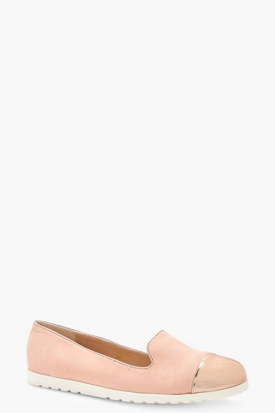 Molly Contrast Toe Cap Slipper Ballet