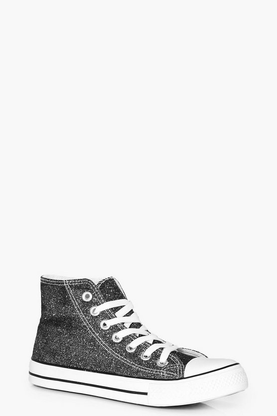 Ella Metallic Canvas High Top