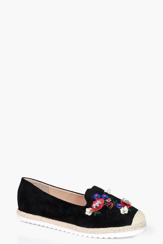 Maisie Embroidered & Embellished Espadrille