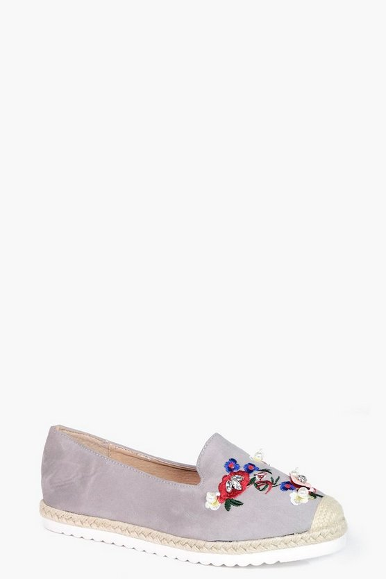 Maisie Embroidered & Embellished Espadrilles