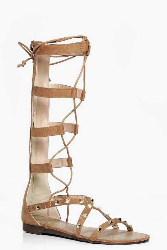 Jasmine Stud Lace Up Gladiator Sandal