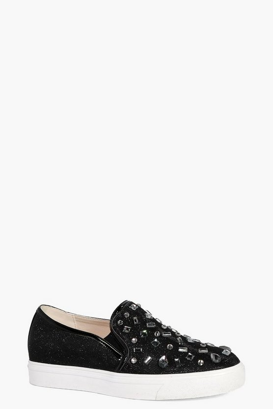Harriet Embellished Metallic Skater