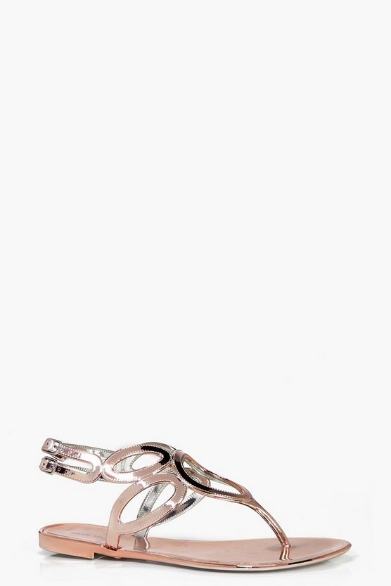 Millie Cut Work Jelly Sandal
