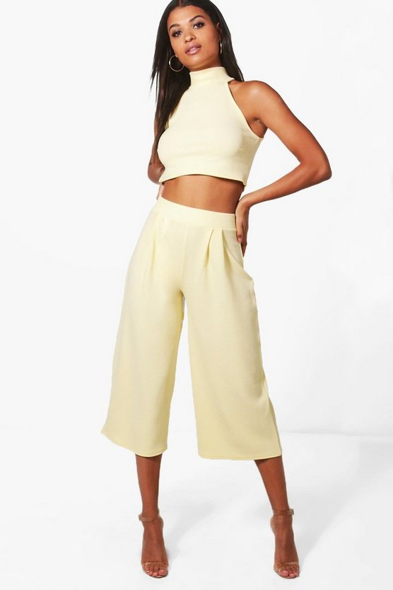 Rose High Neck Crop & Culotte Co-ord