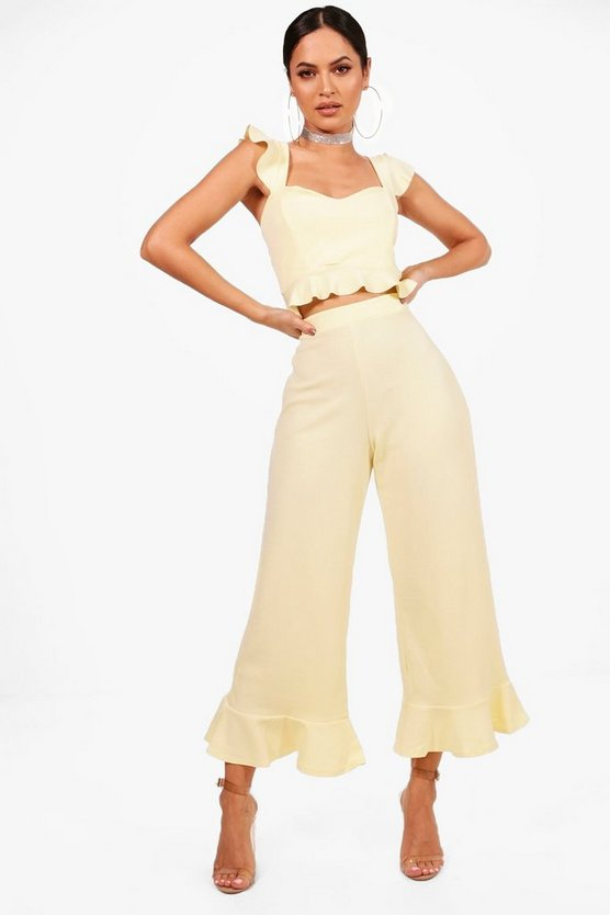 Grace Frill Bralet & Hem Trouser Co-ord