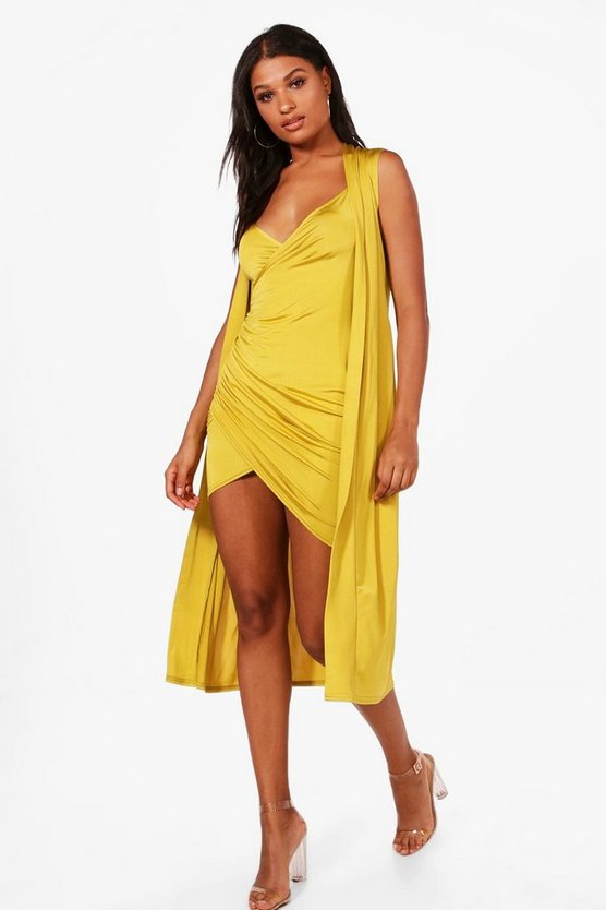Isla Wrap Drape Dress & Duster Co-ord