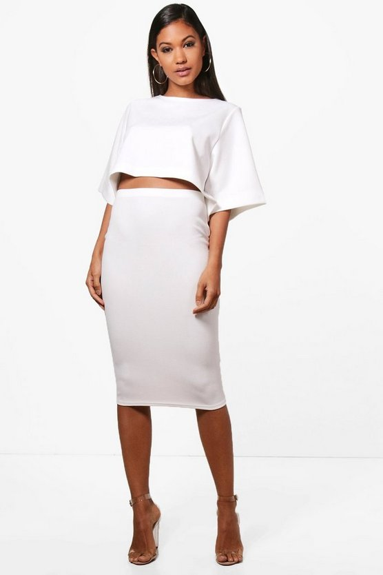 Lexi Boxy Crop & Midi Skirt Co-ord Set