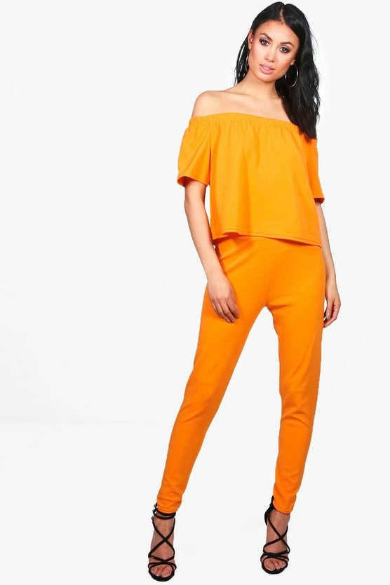 Niamh Off Shoulder Crop + Skinny Trouser