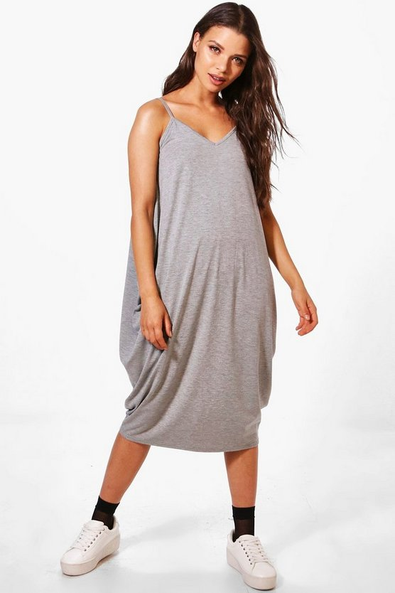 Olivia Drape Side Midi Dress