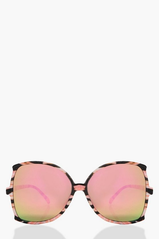 Sarah Mirrored Lense Oversized Sunglasses