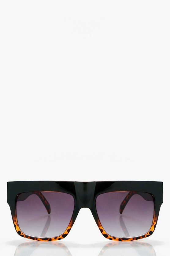 Jane Flat Top Tortoiseshell Sunglasses