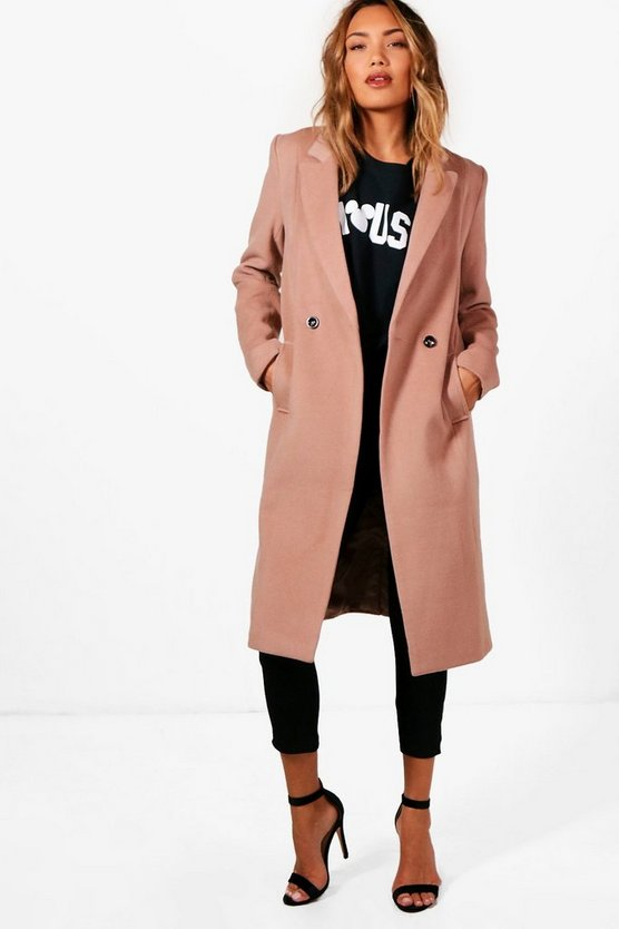 Zoey Maxi Double Breasted Coat