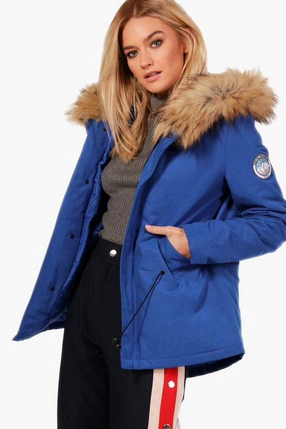 Faith Luxe Faux Fur Hood Sporty Parka