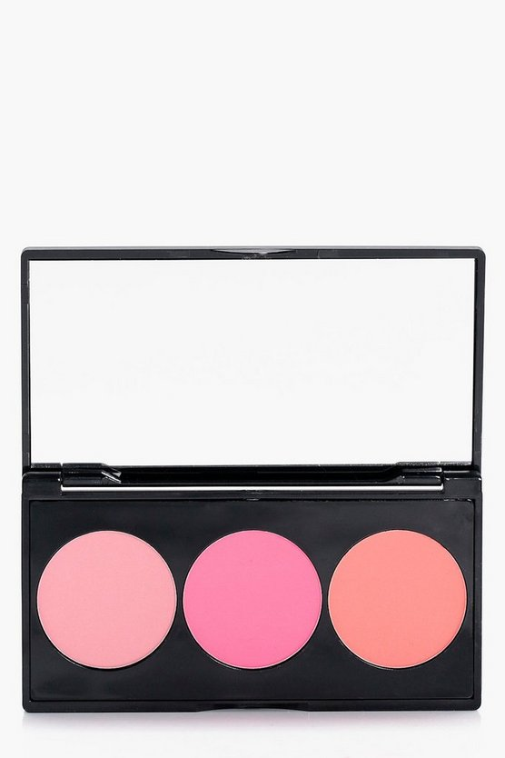boohoo 3-farbige Rouge-Palette