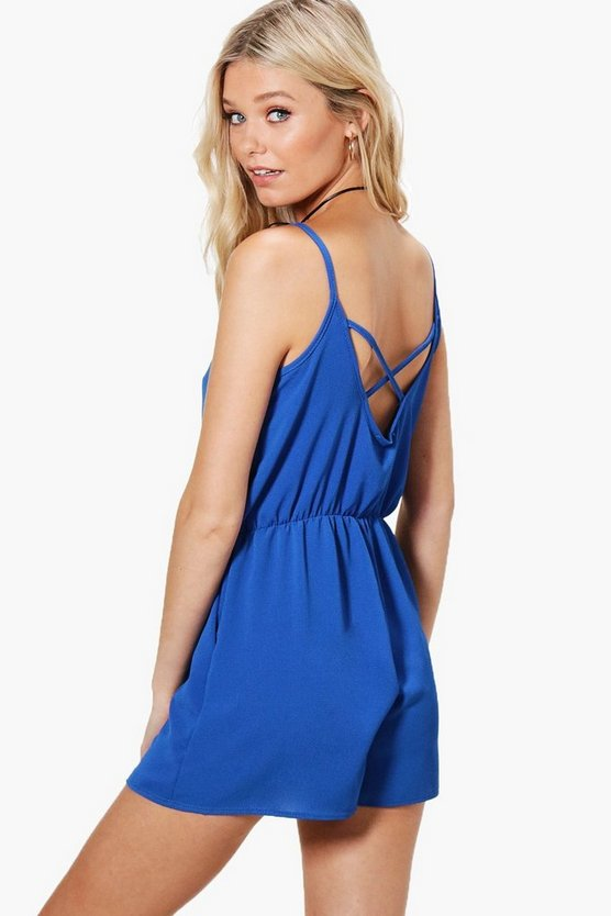 Willow Cross Back Strappy Playsuit