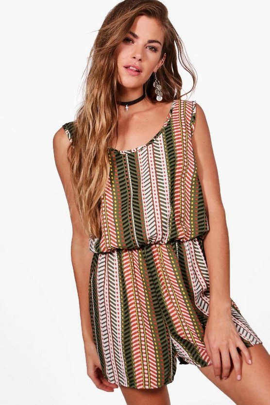 Luna Printed Tie Back Playsuit