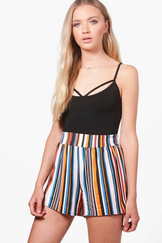 Ellie Striped Flippy Shorts