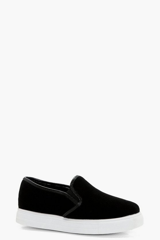 Emma Contrast Edge Slip On Trainers