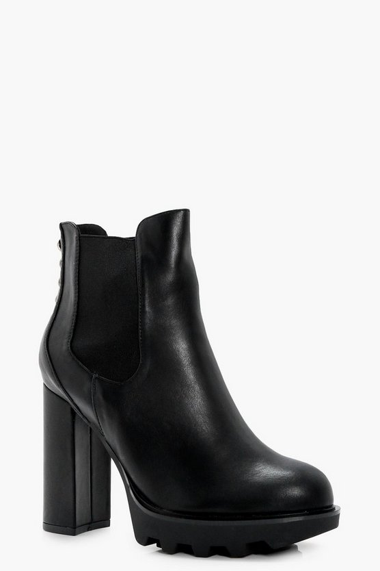 Lottie Platform Panel Toe Ankle Boot