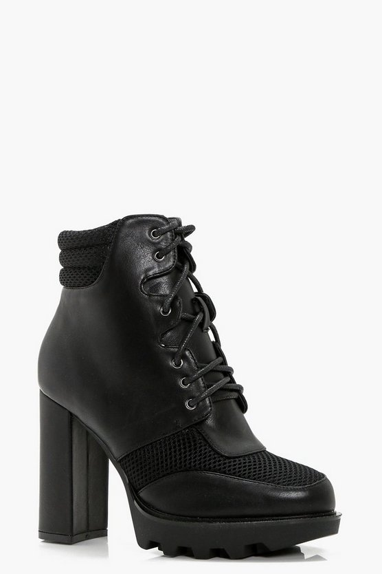 Hannah Lace Up Hiker Platform Boot