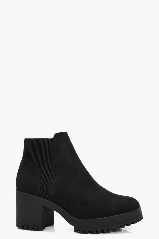 Alice Platform Slip On Chelsea Boots