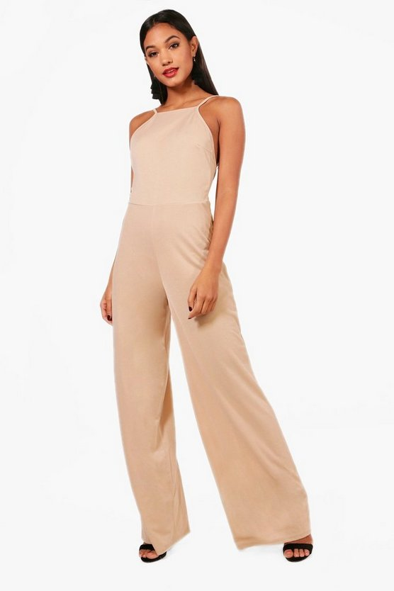 Melissa High Neck Wide Leg Jumpsuit