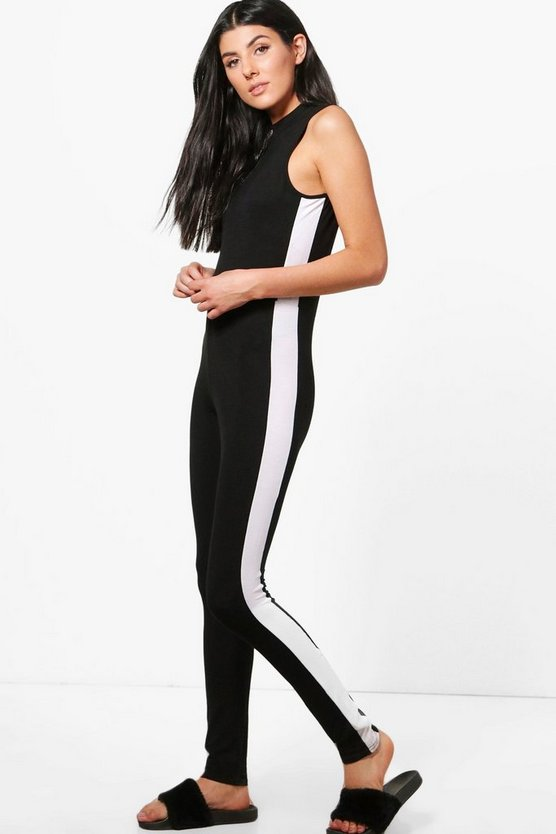 Candy Side Stripe Super Skinny Unitard