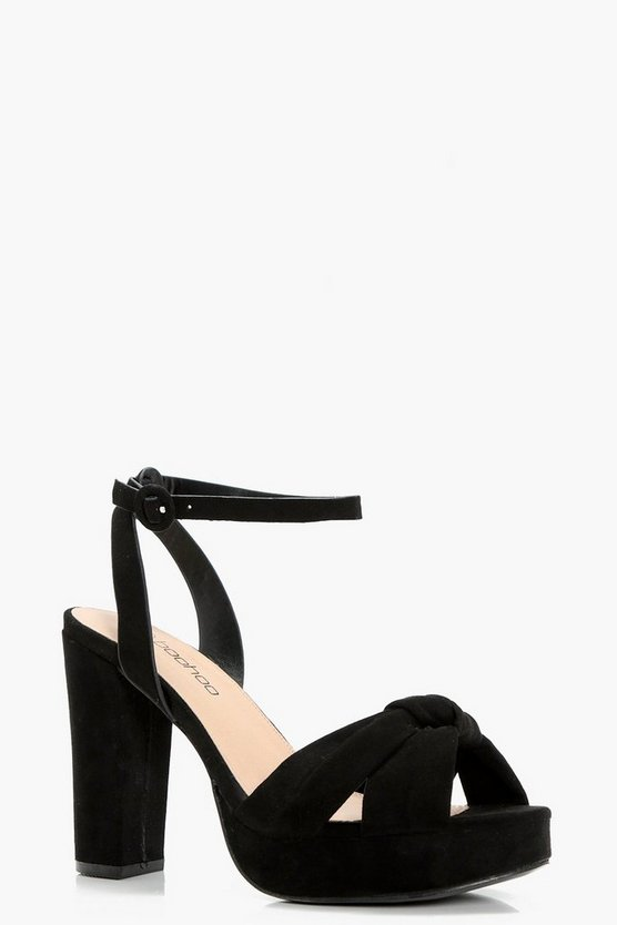 Lucy Knot Front Peeptoe Platforms