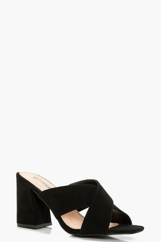 Zoe Wide Fit Cross Front Mule