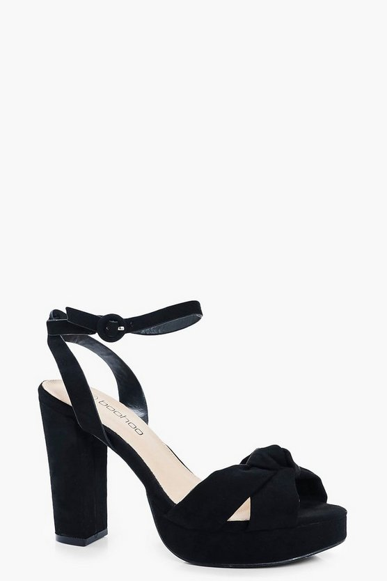 Orla Wide Fit Knot Front Platforms