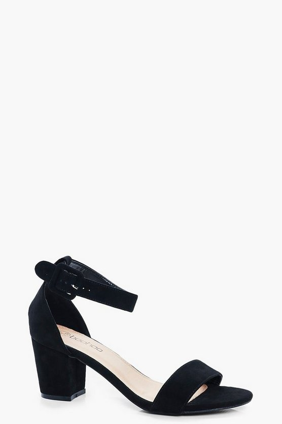 Rose Wide Fit Low Block Heels