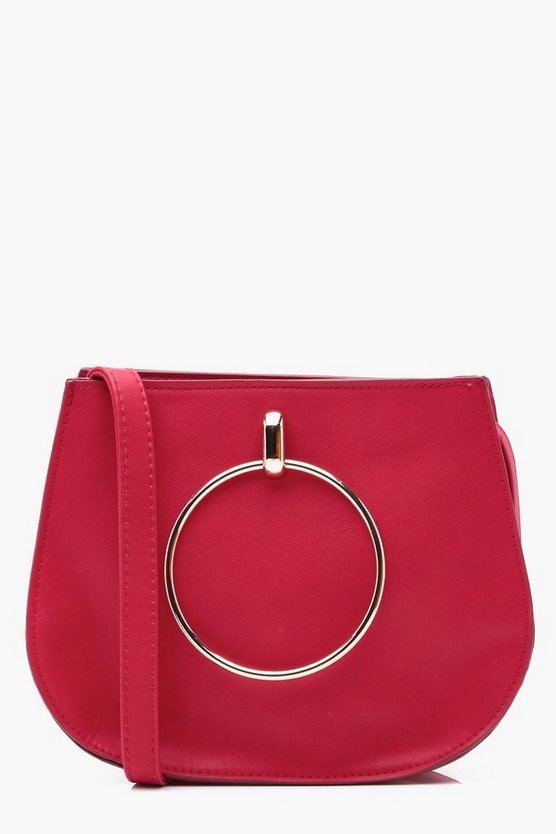 Jodie Large Ring Saddle Cross Body Bag