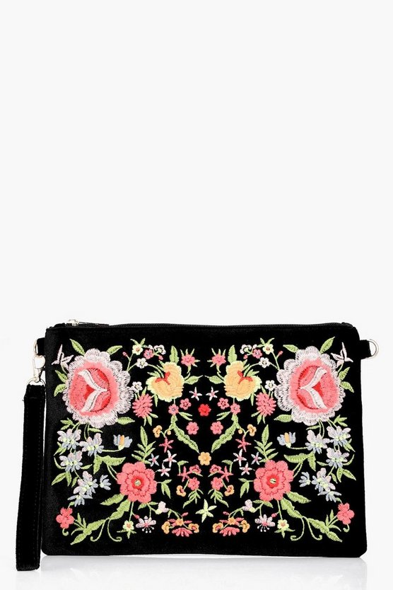 Hannah All Over Embroidered Clutch